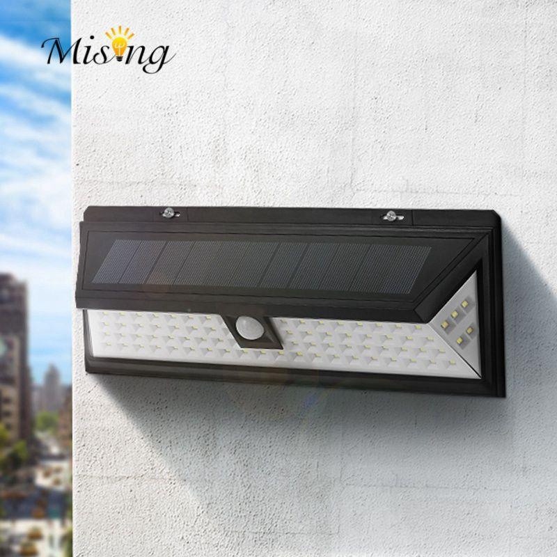 Mising Waterproof 80 LED Solar Light Outdoor Garden Light PIR Motion Sensor Emergency Wall Solar Lamp 3.7V