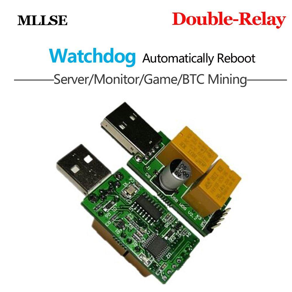 Best Computer Crash/Blue Screen/Timeout Automatic Reboot Watchdog Card for Asic Antminer Litecoin LTC Bitcoin BTC Miner