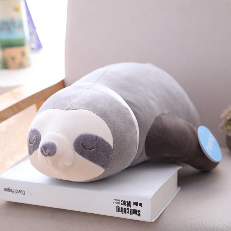 1pc doux Simulation nouveauté mignon farci paresseux jouet en peluche paresseux doux jouet animaux peluche poupée oreiller pour enfants cadeau d'anniversaire