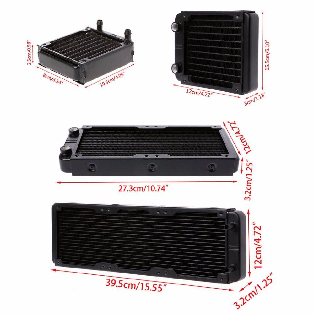 1 Pc 80/120/240/360mm aluminium ordinateur radiateur refroidisseur d'eau refroidissement pour CPU GPU VGA RAM radiateur échangeur liquide refroidisseur