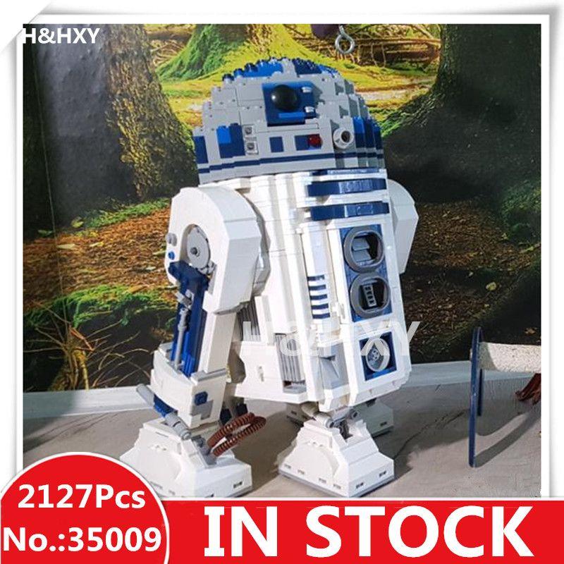IN STOCK H&HXY 35009 2127Pcs The R2-D2 Robot LELE Star Model Building wars Kits Blocks Bricks Christmas Toys For Children 10225