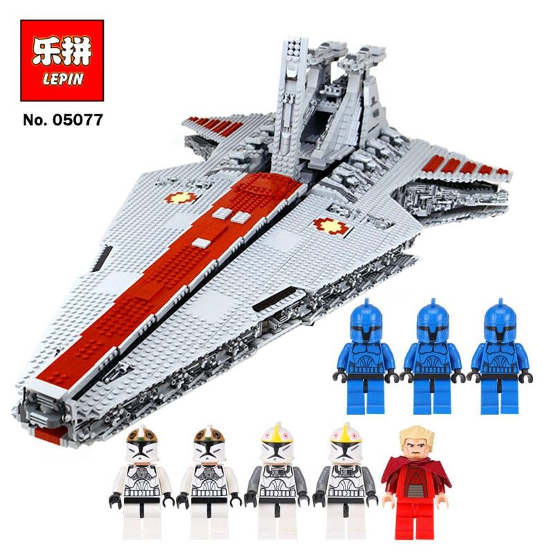 Lepin 05077 Star series Wars Venator-Class Republic Attack Cruiser UCS Republic Star Destroyer ST 04 Compatible with Lego 8039