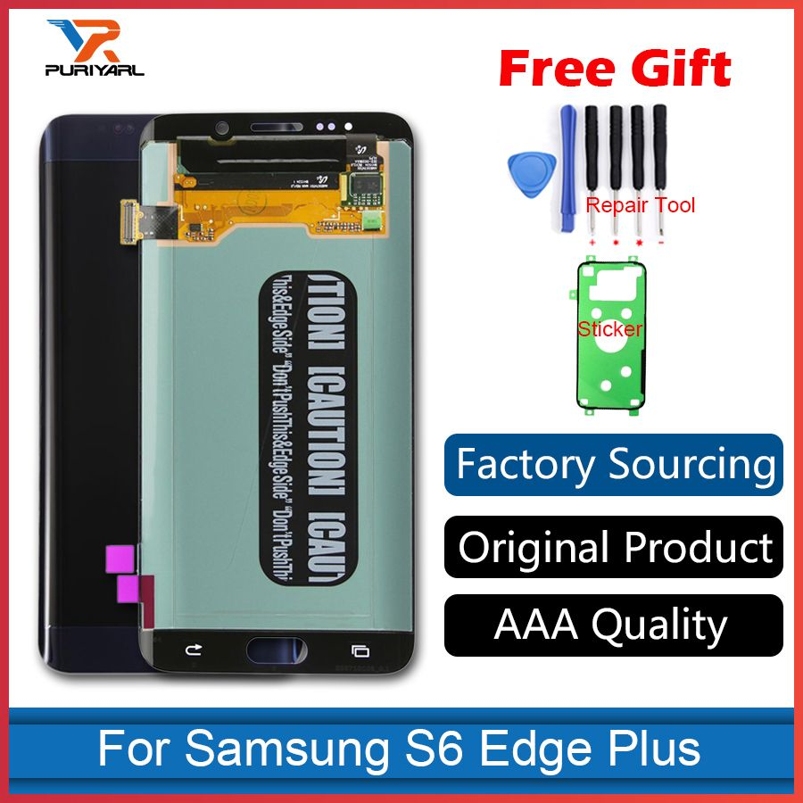 100% Original Super AMOLED For Samsung Galaxy S6 Edge Plus G928 G928F LCD Display Touch Screen Digitizer Assembly Replacement