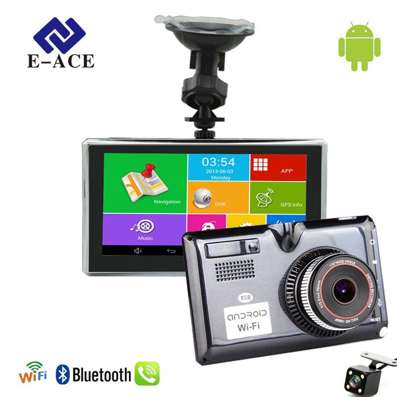 E-ACE L01 5 Zoll Auto GPS-Navigation Android Kapazitiven Bildschirm Bluetooth WIFI FM Lkw Fahrzeug Auto Navigatoren Dashcam Sat Nav karte