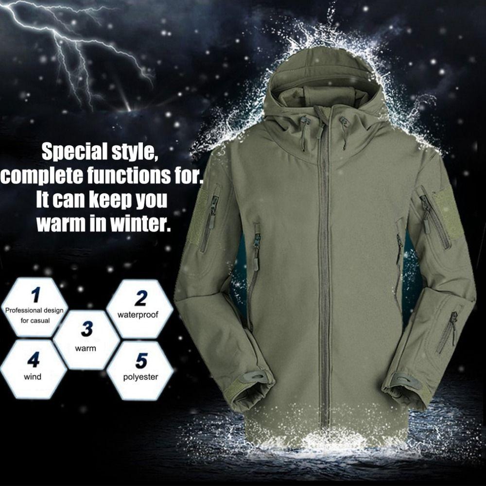 Neue Atmungsaktive Outdoor Militärische Taktische Laufjacke Winddicht Warm Halten Langarm Mit Kapuze Warme Outwear Mantel aus Russland