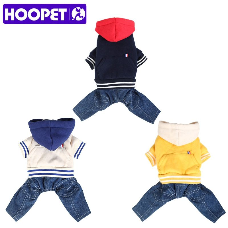 HOOPET New Autumn Winter Pet Products Dog Cat Clothes Four Feet Puppy Fashion Clothing With Cap