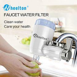 Wheelton grifo filtro 8 capas purificación carbón activado de cerámica y KDF y más casa cocina purificador de agua