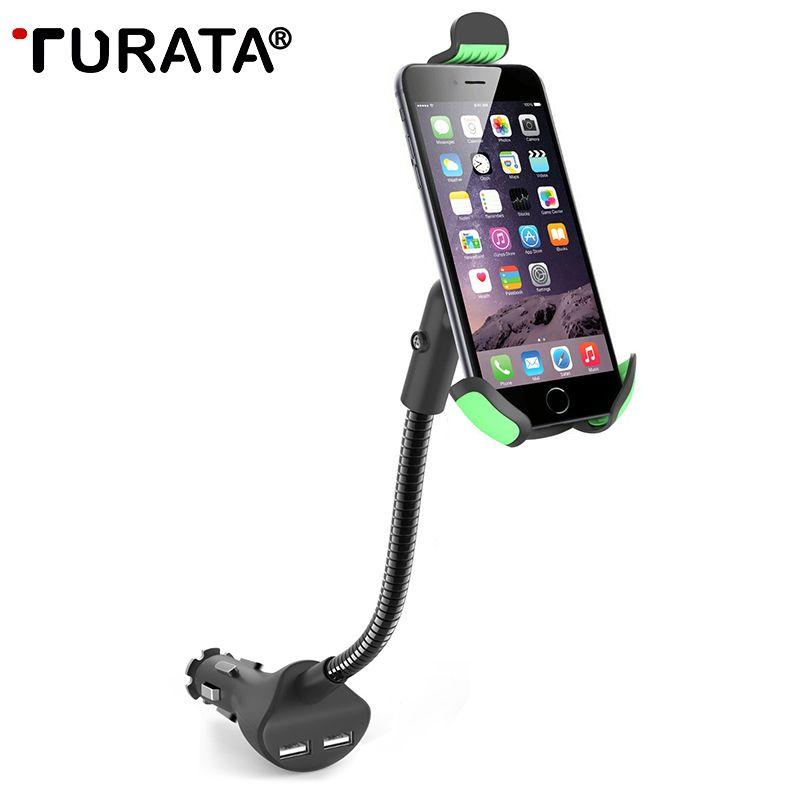 Turata Chargeur De Voiture Cigarette Stand Support Pour Téléphone Mobile GPS rapide USB Voiture-Chargeur Pour iphone X Samsung Galaxy S8 S9 Huawei