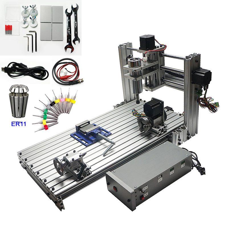 USB CNC Router 6030 400 W 4 Achsen CNC Gravur Schneiden Maschine für Holz