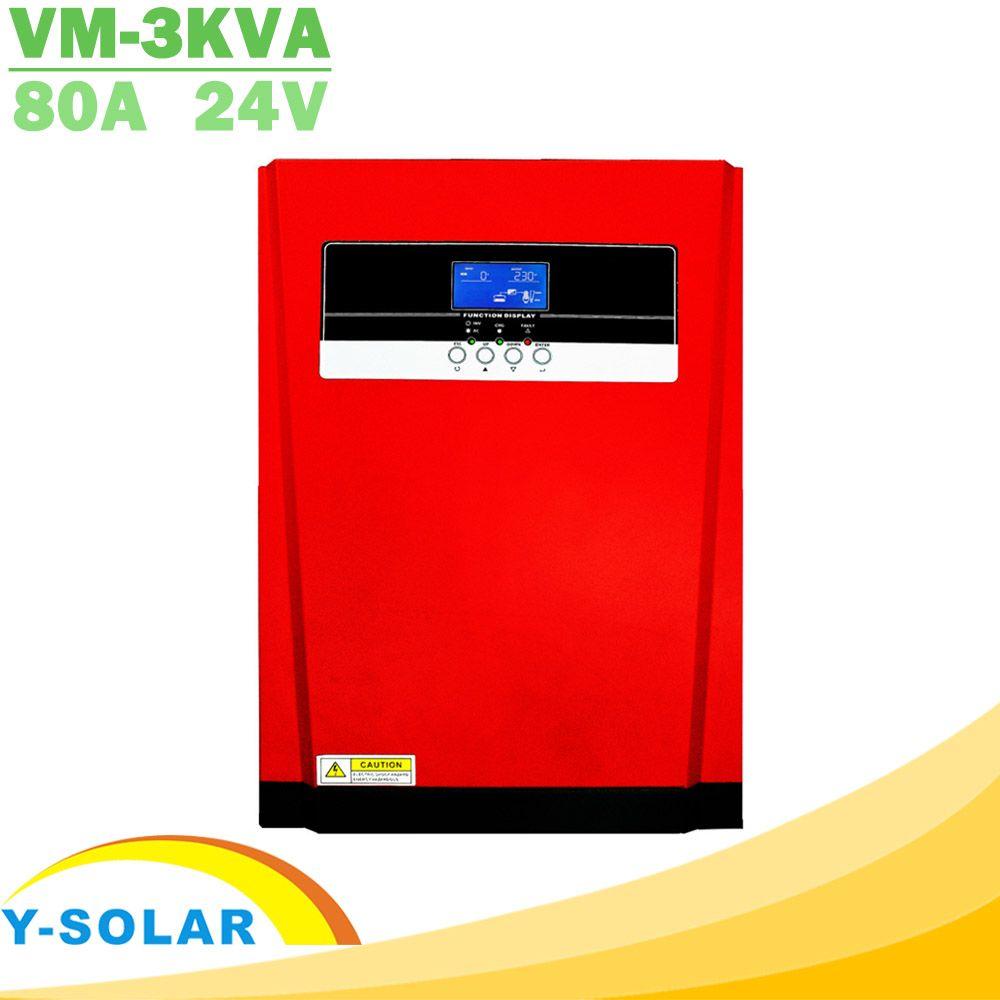 3200W Reine Sinus Welle Solar Hybrid Inverter MPPT 80A Solar Panel Ladegerät und AC Ladegerät Alle in Einem 230VAC solar Laderegler