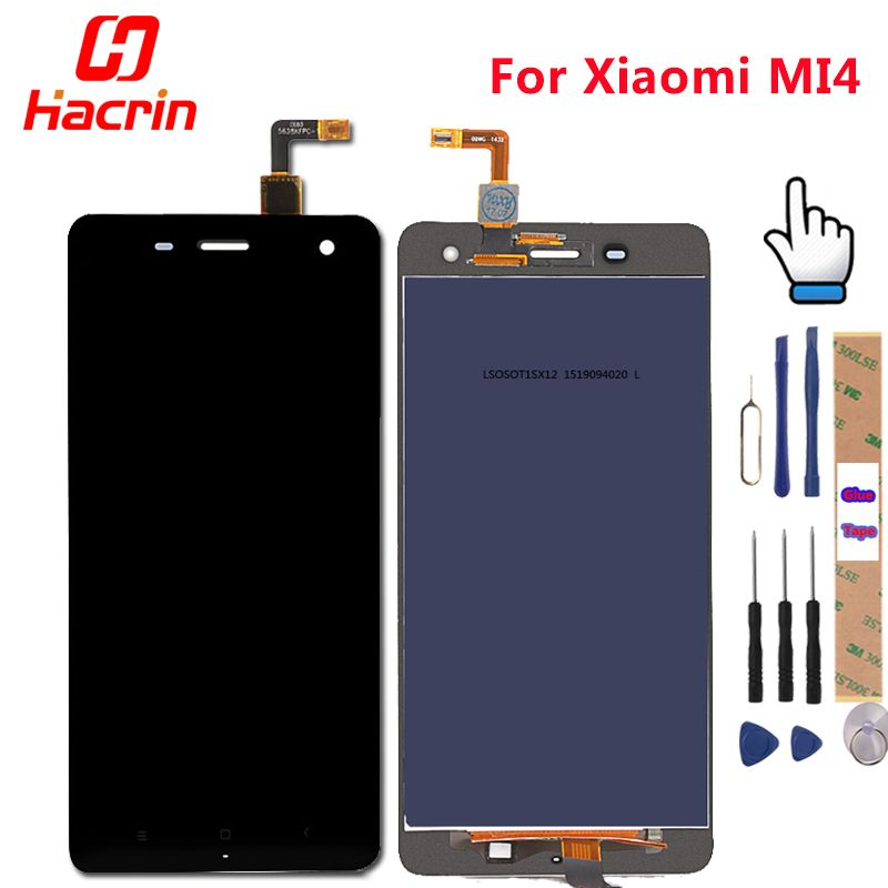 For Xiaomi Mi4 LCD Display + Touch Screen Digitizer + Tools Set 100% New Assembly Replacement For Xiaomi M4 Mi 4 Mobile Phone