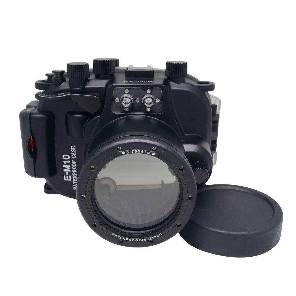 New Arrivals for Olympus EM10 E-M10 12-40mm len Meikon Waterproof Underwater Housing Camera Diving Case