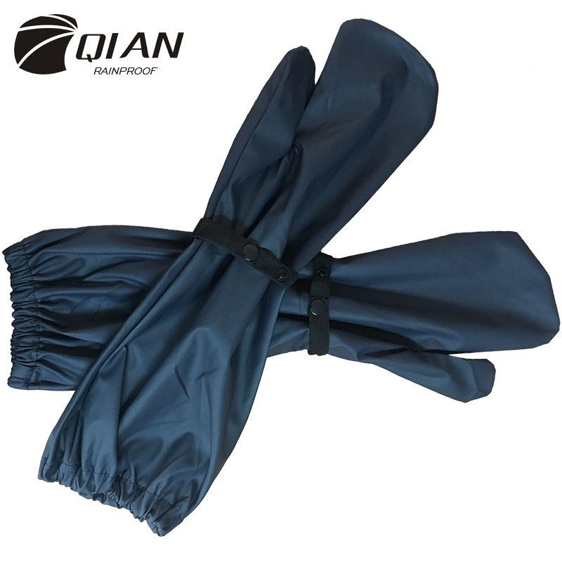 QIAN imperméable à la pluie nouveau Long PU matériel imperméable moto électrique vélo imperméable accessoires coupe-vent pluie gants offre spéciale