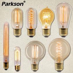 Edison Bohlam Lampu E27 40 W 220 V Ampul Lampara Vintage Bohlam Edison Lampu Pijar Filamen Lampu untuk Dekorasi lampu Retro
