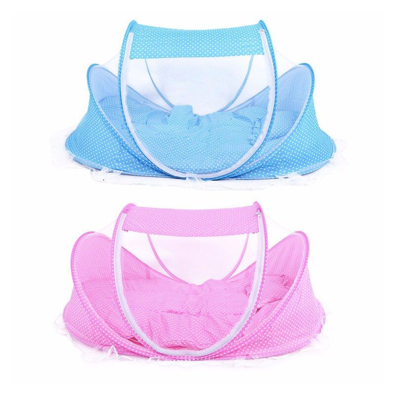 3pcs/lot 0-36 Months Baby Bed Portable <font><b>Foldable</b></font> Baby Crib With Netting Newborn Sleep Bed Travel Bed Mosquito Net Baby Bedding