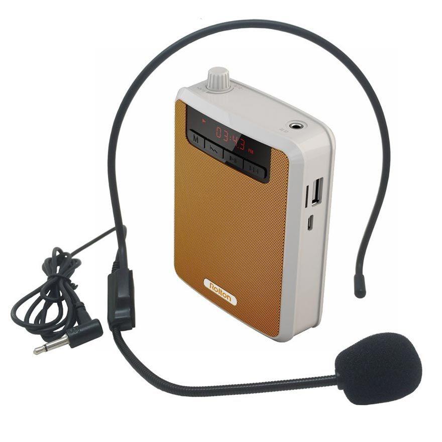 Rolton K300 mégaphone Portable amplificateur de voix taille bande Clip soutien FM Radio TF MP3 haut-parleur batterie externe Guides touristiques, enseignants