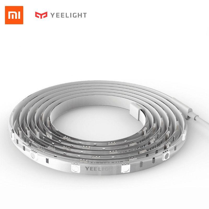 Xiaomi Yeelight Smart LED Lightstrip Wifi APP Color Changing Light Strip Rope Alexa voice control Under Cabinet TV Lighting 2M
