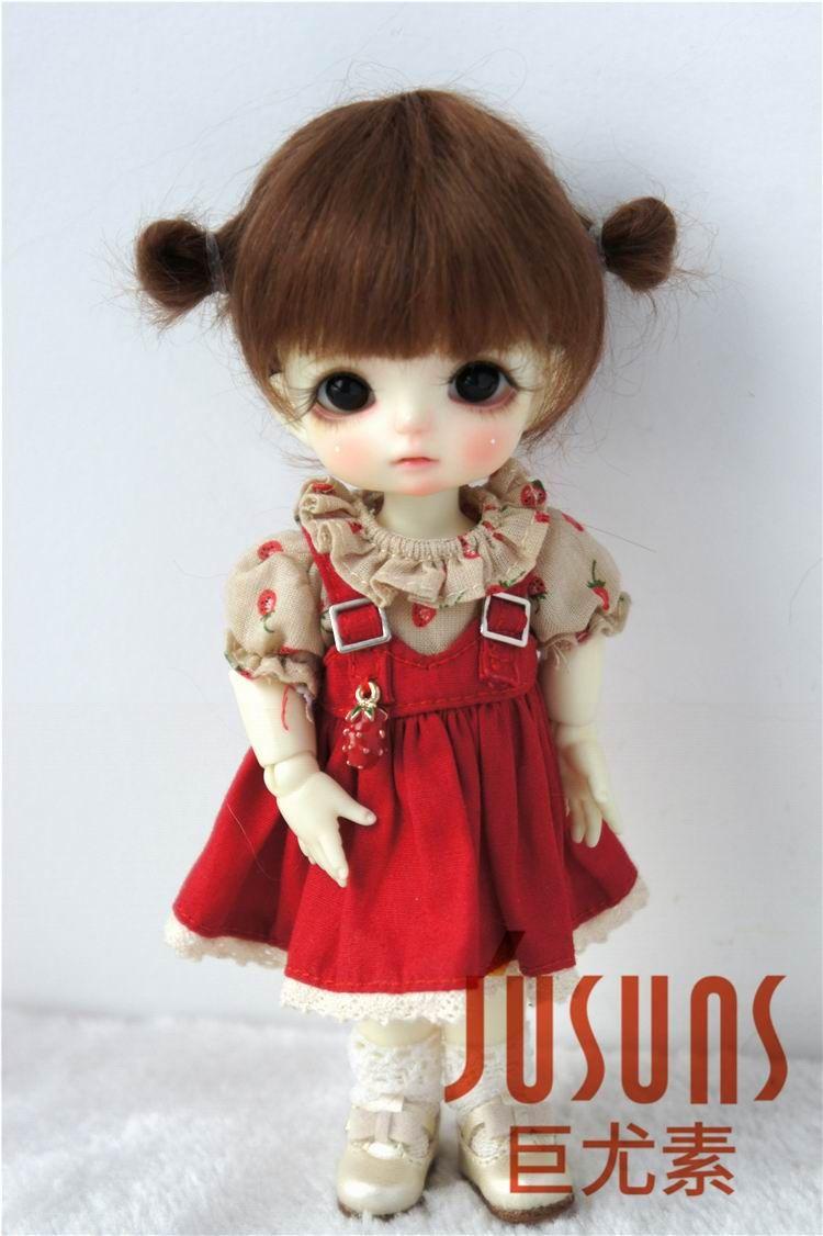 JD415 1/8 1/6 1/4 mignon deux poney BJD mahair perruques taille 5-6 pouces 6-7 pouces 7-8 pouces poupée cheveux mode poupée accessoires