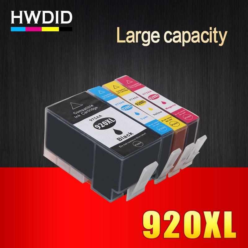 4PK Complet cartouche d'encre Pour hp 920 XL compatible pour HP Officejet 6000 6500 Sans Fil 6500A 7000 7500 7500A imprimante avec puce