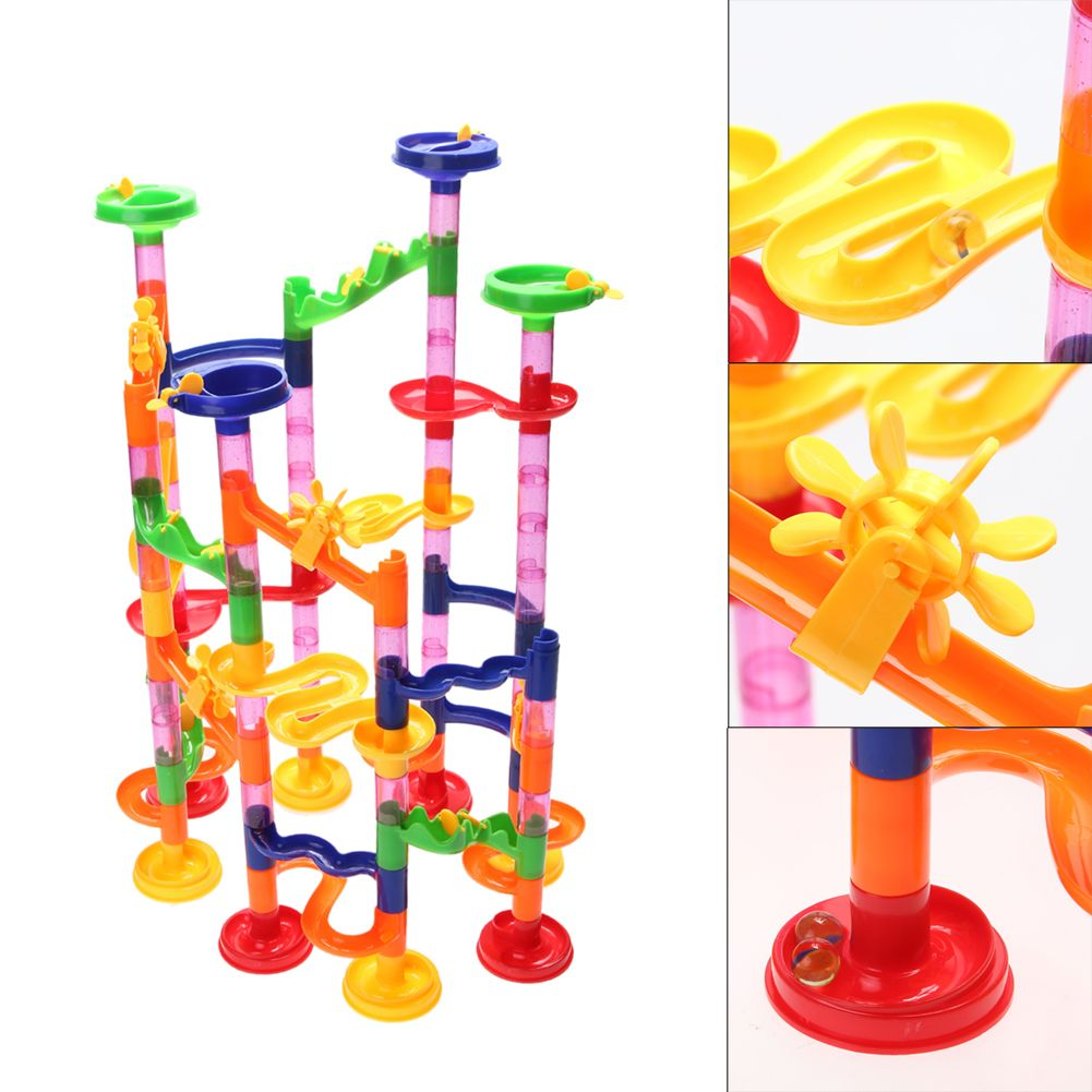 105pcs/Set Colorful Pipeline Building Puzzle Kid Ball Race Track Puzzle Toy for Children Maze Educational Puzzle Board Game Toy