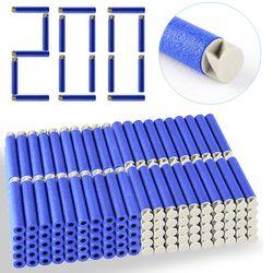 Hot Sale 200pcs/Lot 13 Colors Soft Bullet Flat Soft Head Foam Bullets for Nerf N-strike Elite Series 7.4c*1.3cm Gift Dropship