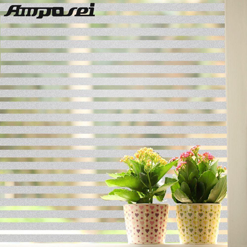 Haute Qualité PVC Fenêtres En Verre Film 45*200 cm Bande Givré Conception Opaque Windows Décoratif Autocollants Uk Home Office vie privée-FE