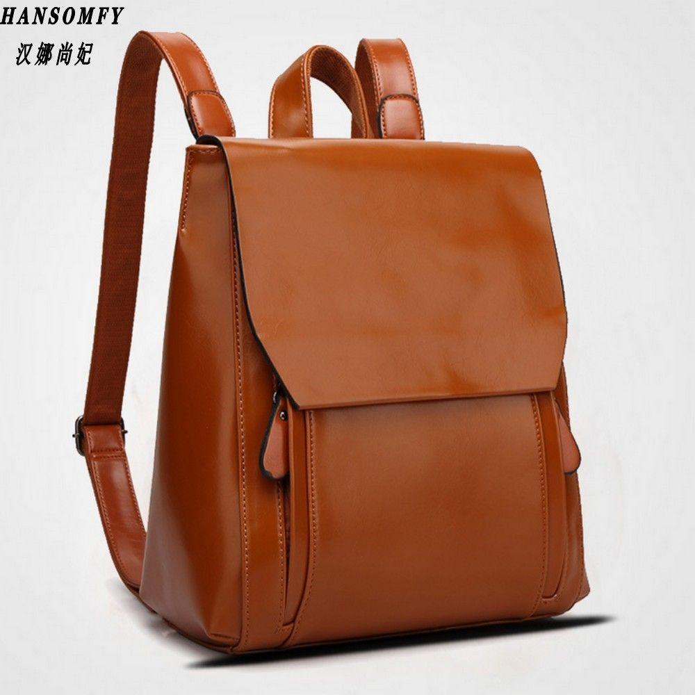 Han 100% Genuine leather Women backpack 2017 New Cow Leather Women Backpack Mochila Feminina School Bags for Teenagers