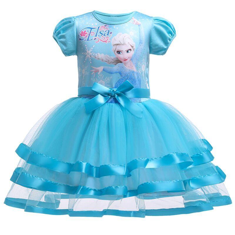 Berngi 2-8 ans été Elsa Tutu dentelle gilet filles robe bébé fille cadeau robe enfants vêtements enfants fête vêtements de noël