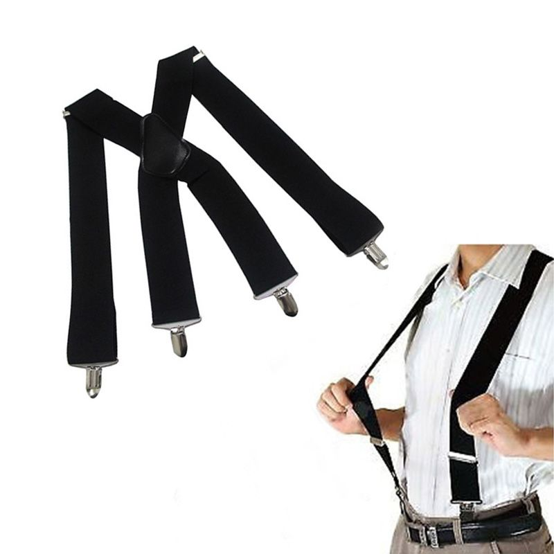Vintage Suspenders Men Clip-on Suspenders Unisex Y-Shape Adjustable Durable Braces Elastic Belts Straps Braces suspensorio