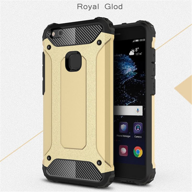 Dual Layer Heavy Case For Huawei P10 Plus Plastic + Silicone Hybrid Armor Shield Protective Cover Shockproof Case For Huawei P10