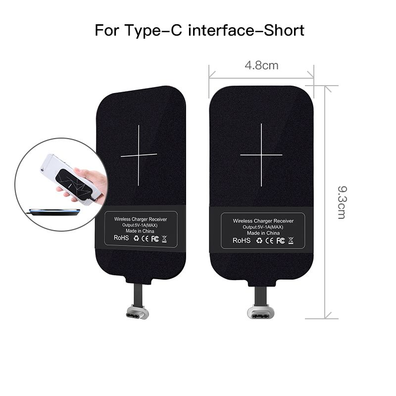 Type C Wireless Charging Receiver Nillkin short USB C Qi Wireless Charger Receiver Chip for huawei p10 for Google Pixel XL zuk