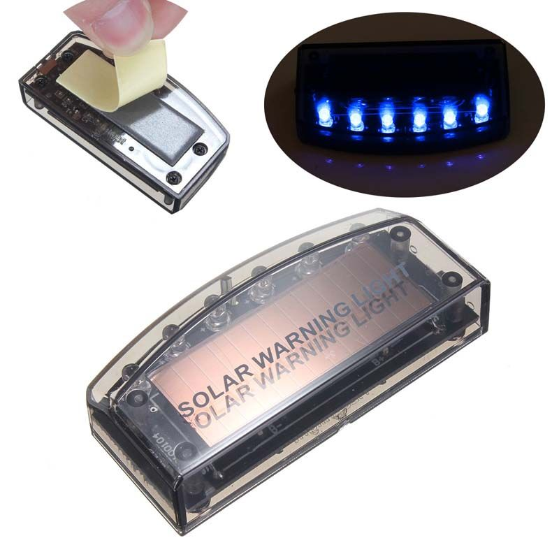 Auto Solar Charger Car Sensor Security Burglar Alarm Warning LED Light Bulb Car Singal Lamp Strobe Light Bulbs
