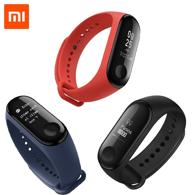 [Spanish Version] Xiaomi Mi Band 3 Smart Bracelet Miband 3 Android Activity 0.78 inch OLED Message Display Fitness Tracker 2018