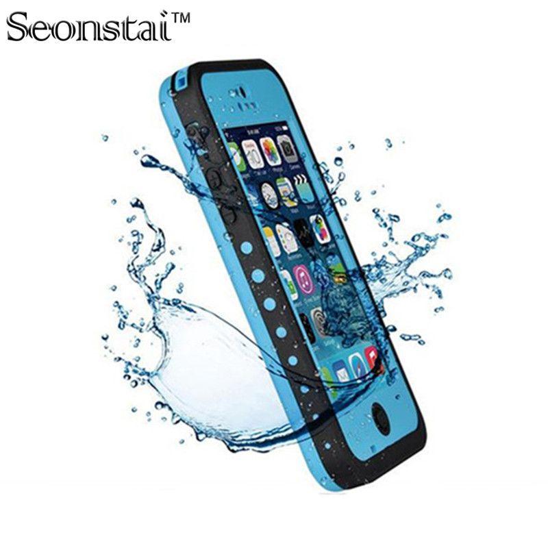100% Étanche Boîtier Étanche Pour iPhone5 5S Mince De Luxe Vie Sous-Marine Insalissable Antichoc De Bain Housse De Protection Sac pour SE