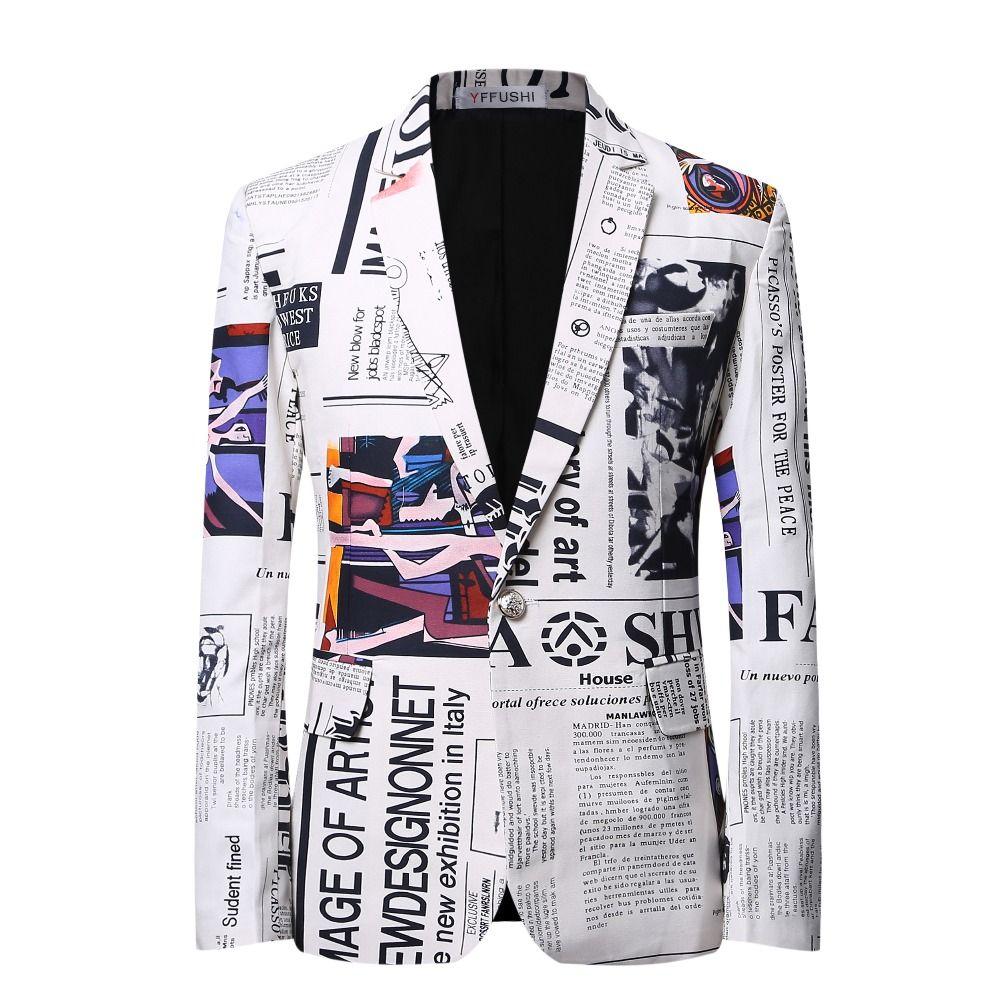 2017 New Arrival Luxury Men Blazer Suit Slim Fit Costume Homme 3D Print Blazer Men Casual Business Dress Blazer Masculino