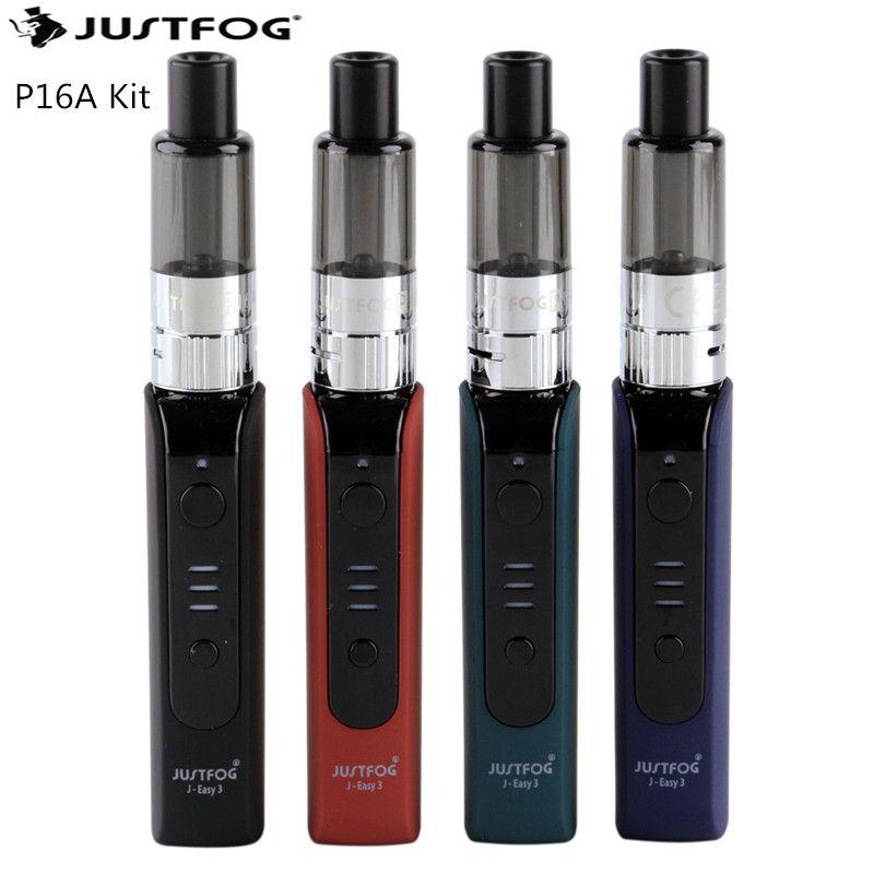 Original JUSTFOG P16A Kit Electronic Cigarette Kit with 900mAh Battery 1.9ml Tank Vape Kit 1.6ohm Coil Head