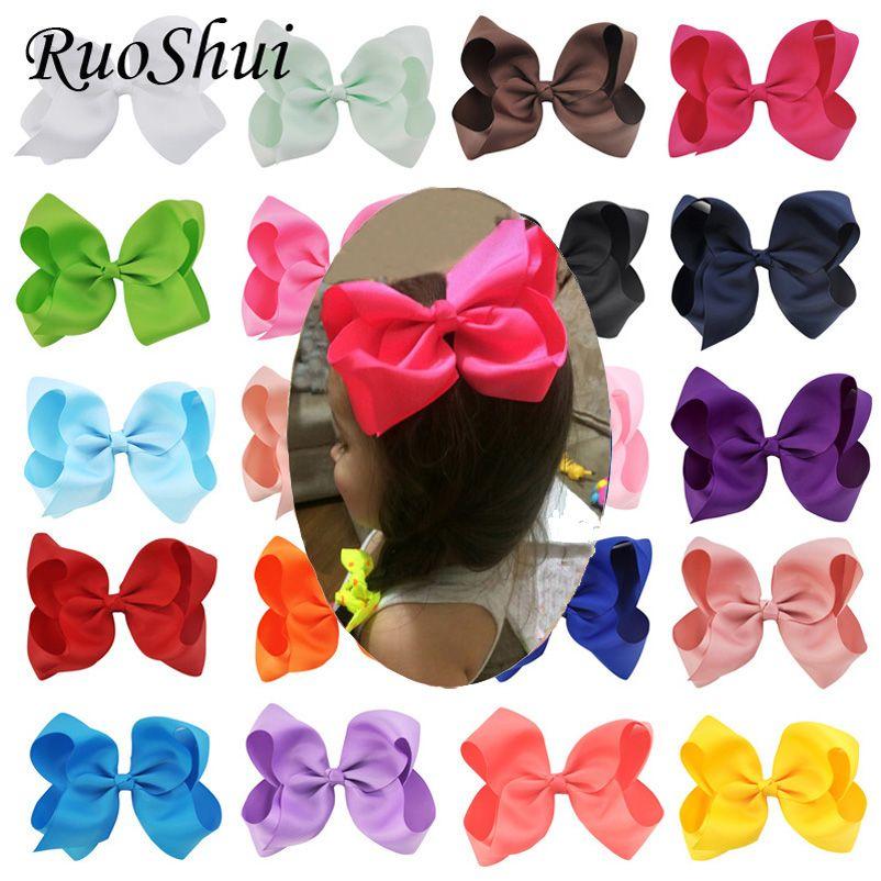 20 PCS/lot 6 pouces gros-grain ruban arcs pince à cheveux Bowknot Pinwheel fleur bricolage chapeaux épingles à cheveux doux cheveux accessoires pour les filles