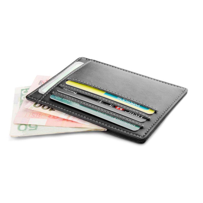 Gibo Auja-marque en cuir véritable Super porte-cartes fin étui à cartes organisateur d'argent hommes portefeuilles court portefeuille embrayage carte de crédit