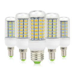 10 Teile/paket AC220V SMD 5730 Led-lampe E27 E14 Led-lampe Maisbirne 24 36 48 56 69 72 LEDs Kronleuchter Kerze LED-Licht Dekoration