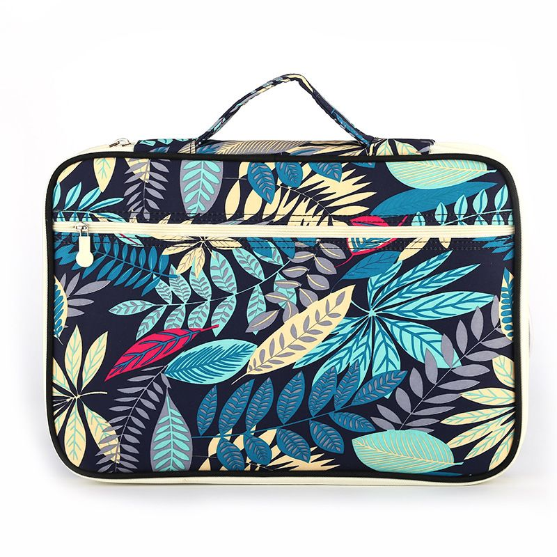 JUKUAI 1 Pcs Multi-functional A4 Document Bags Embroidery Waterproof Oxford Cloth <font><b>Storage</b></font> Bag For Notebooks Pens iPad Computer