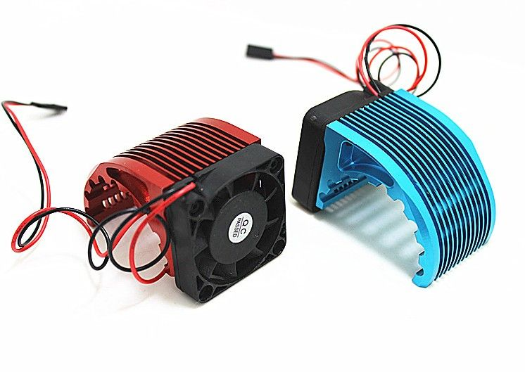 RC Alum. Alloy Motor Heatsink CNC 4010 40*40mm Fan For Brushless Motor 42mm Hobbywing Leopard Castle 4274 1515 812 T8 4268 4272