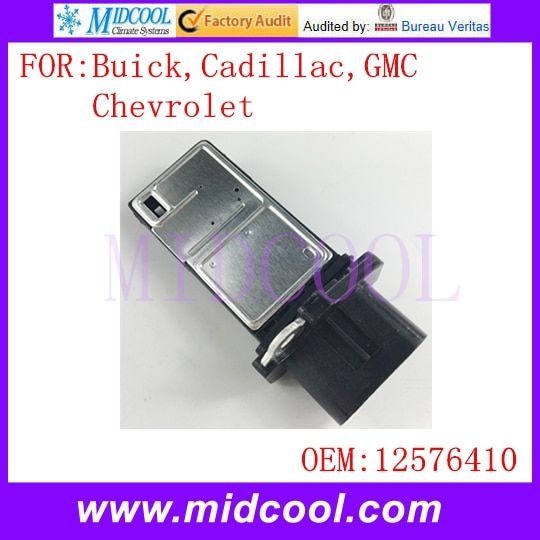 New Mass Air Flow Sensor use OE No. 12576410 , 15828006 , 8158657910 , 2451103 , 5S6715 for Buick Cadillac Chevrolet GMC
