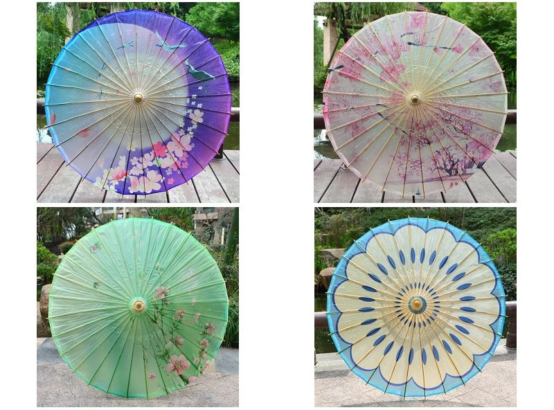 Handmade oil paper craft decor umbrella / Asia Japan China Thailand photoshow Cosplay performance roof Ceiling Room decoration