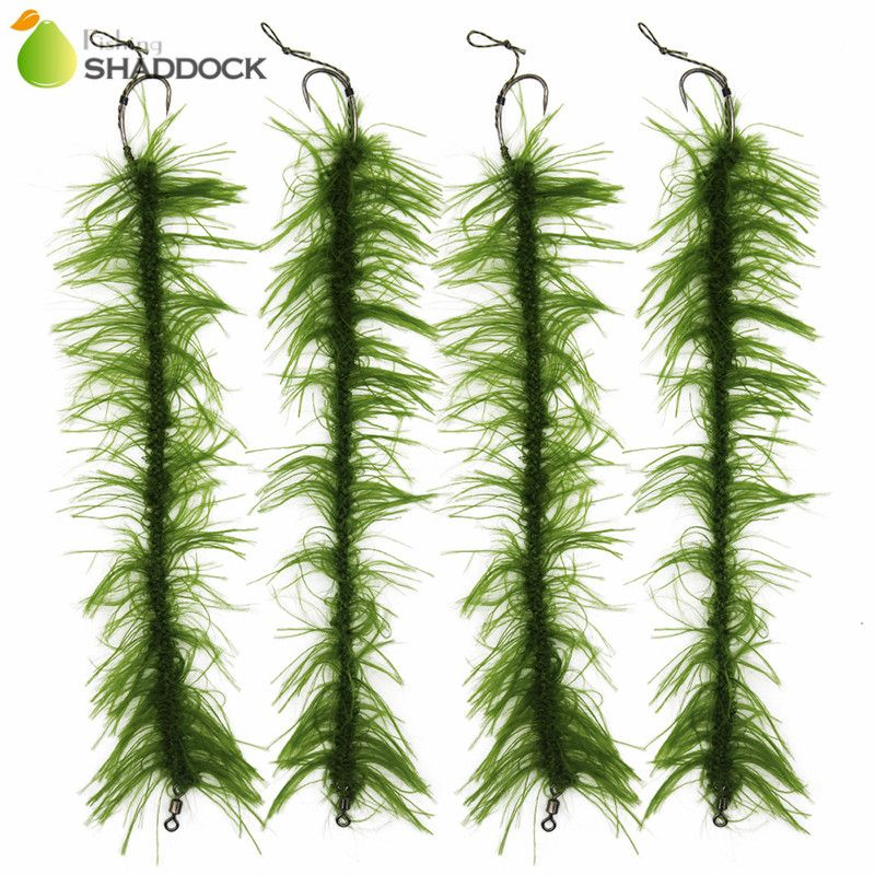 10pcs/set Weed Carp Fishing Hair Rigs Braided Thread 8245 Barbless Curve Fishing Hook Carp Rigs Carp Fishing Accessories