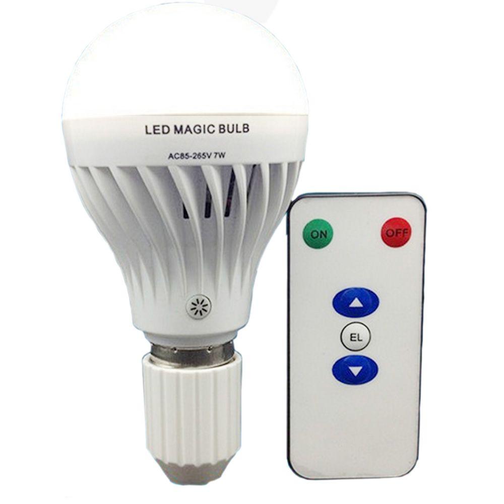 Lampe de ampoule LED Rechargeable 7 W E27 avec télécommande Dimmable LED télécommande Rechargeable LED ampoule magique lumière de secours