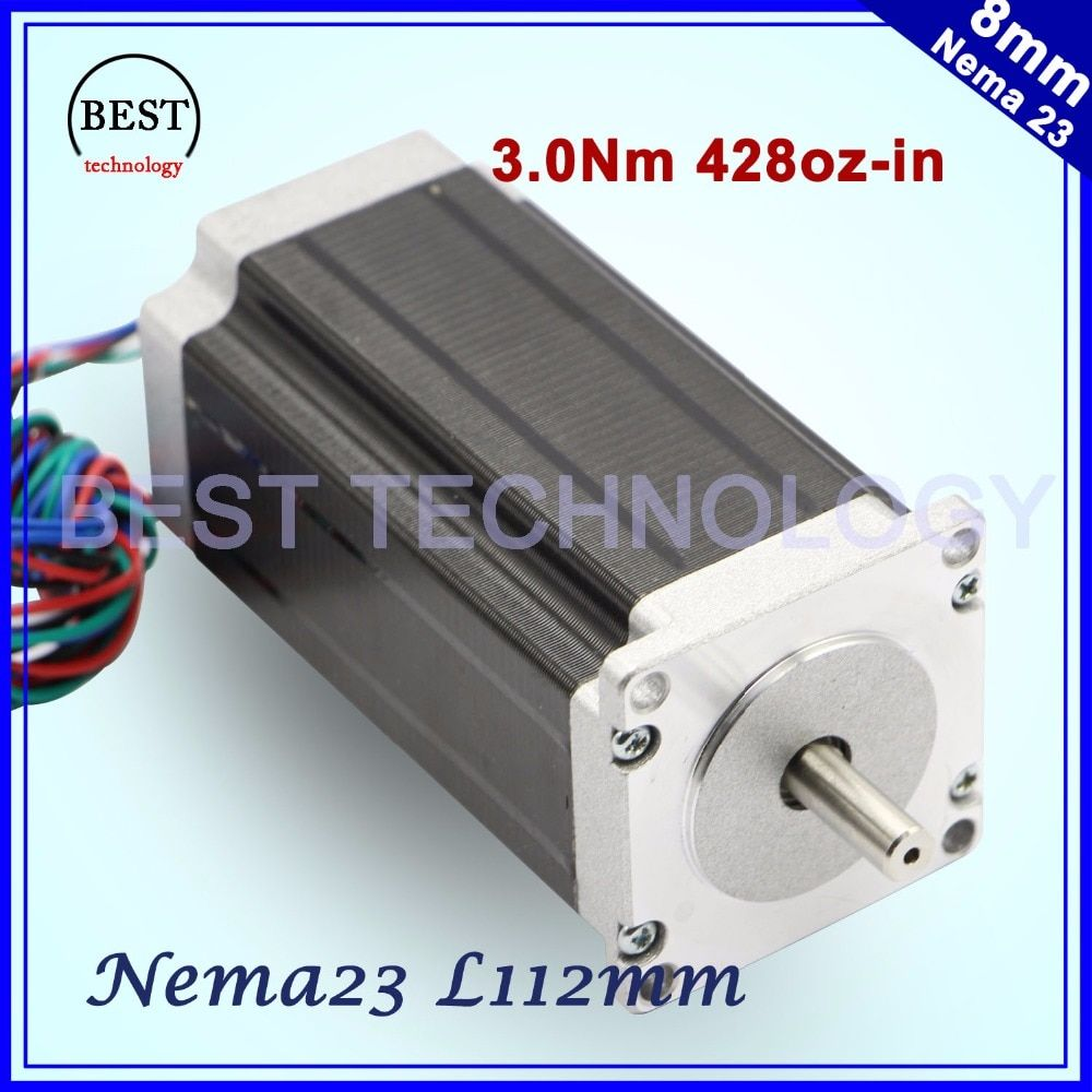 NEMA23 stepper motor 57x112mm 4-lead 3A 3N.m / Nema 23 motor 112mm 428Oz-in for 3D printer for CNC engraving milling machine