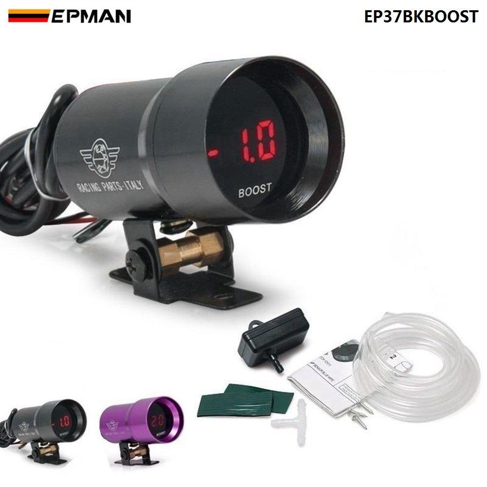 Jauge de barre de poussée fumée Micro numérique compacte 37mm universelle 3-4-6-8 moteurs cylinder noir, violet pour BMW f20 EP37BKBOOST