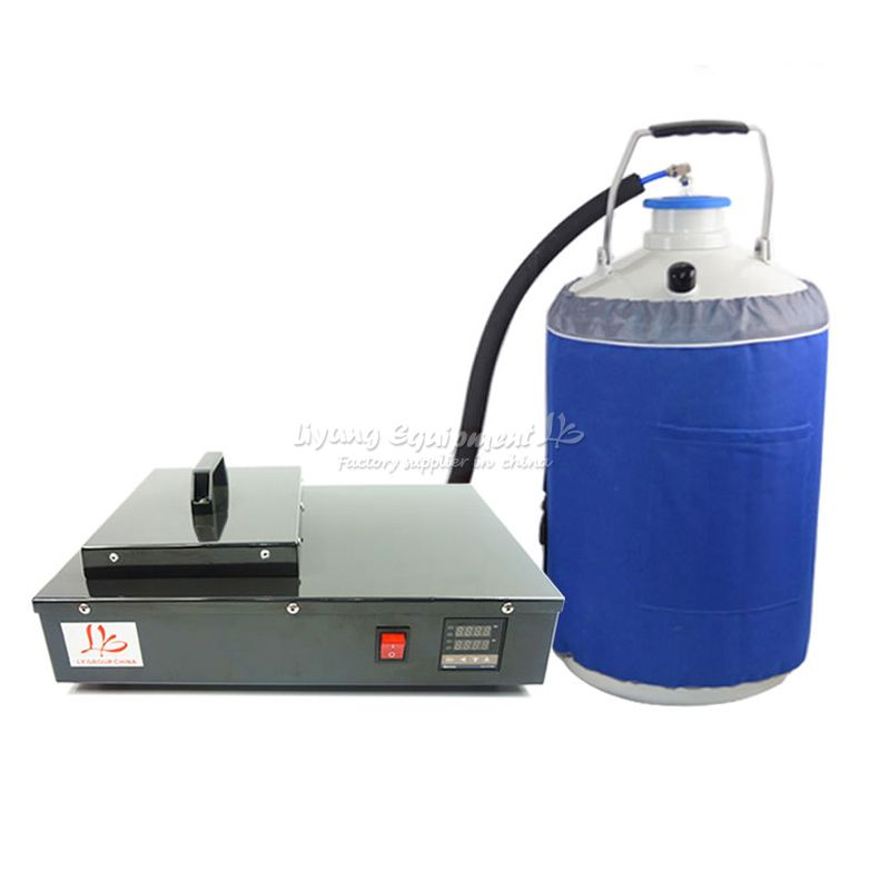 FS-06 liquid nitrogen freezing LCD Separating machine 2 in 1 pack with vacuunm pump and nitrogen tank