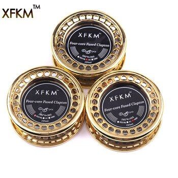 XFKM 5m/roll 4-core fused clapton Heating Wire RDA RTA Atomizer Clapton Wires Premade Coil Tool Electronic Cigarette Accessories