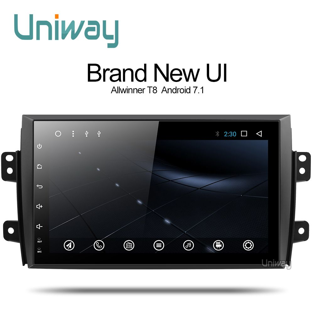 uniway ATY9071 Android 7.1 car dvd for Suzuki SX4 2006 2007 2008 2009 2010 2011 2012 2013 car radio gps navigation